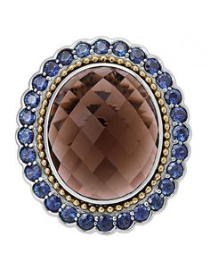 LAGOS Jewelry Smokey Quartz Blue Sapphire Gemstone Statement Ring | LAGOS.com