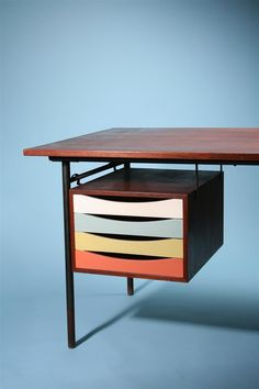 Mid-Century Danish Furniture Designer Finn Juhl ... I want this organization all over my future office.