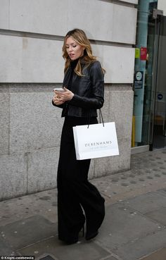 Abbey Clancy cuts a stylish figure as she attends fashion event in London | Daily Mail Online