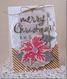 Buttons & Bling:Maureen Plut: Buttons & Bling – Hop - 12/26/14  (Pin#1: Christmas: Florals.  Pin+: Christmas: Tags)