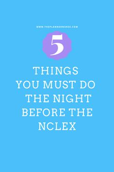 Exam day can be very stressful. The last thing you want to do is scramble around the morning of your exam adding to the stress. In this post, I've included some more NCLEX tips, 5 things you must do the night before. Nursing School Graduation, Nursing School Tips, Nursing Tips, Nursing Schools, Nursing Exam, Pharmacology Nursing, Nursing Students, Medical Students, Cranial Nerves Mnemonic