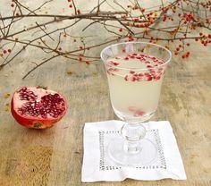 Pineapple juice,  vanilla vodka, champagne, with pomegranate seeds yummmm!! @WC