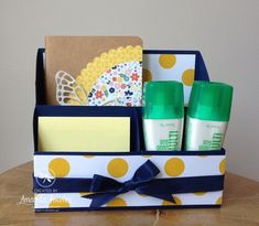 Stampin' Up! Desk Tidy by Amanda Fowler of Inspiring Inkin'
