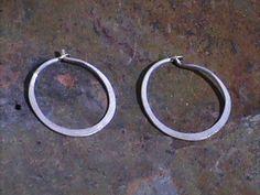 Hammered Hoop Earrings by NikkiMac on Etsy, $10.00