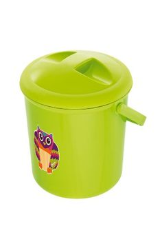 Rotho Babydesign - Cubo, diseño de búho, color verde
