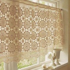 Find This Pin And More On CORTINAS ALMOFADAS TAPETES ILUMINACAO CURTAINPILLOWRUGS Crochet Curtain