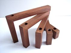 Vintage Danish Modern Teak Or Rosewood Candle Holder