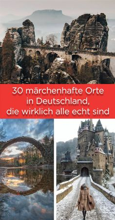 30 fairytale-like places in Germany, all really real .- 30 märchenhafte Orte in Deutschland, die wirklich alle echt sind 30 fairytale places in Germany, which are all really real - Voyage Bali, Destination Voyage, Solo Travel, Travel Usa, Trailers Camping, Voyage Europe, Countries To Visit, Europe Destinations, Parcs