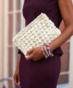 Glam Clutch, free knitting pattern from Red Heart