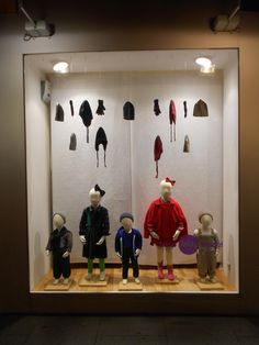 Kids Fall window's display in one of our Paris stores.  Merchandizing by Sarah.  #merchandizing #display #window #paris