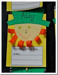 St. Patrick's Day craft and writing activity.