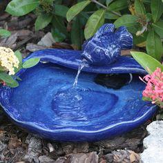 Found it at Wayfair - Solar Water Features Ceramic Koi Fountain