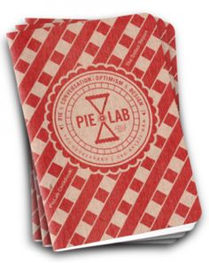 pocket sized cookbook for sweet and savory pies.     Mmm, pie! Scout Books have partnered with H.E.R.O.'s PieLab to bring you this handy, pocket-sized cookbook with their favorite recipes from PieLab's 2010 Bake-Off contestants. PieLab Cookbook: The Dollop Report contains recipes for a variety of sweet and savory pies, crusts, and more! The small format is perfect for impromptu ingredient shopping; keep it with you year-round so you're always ready to get cooking. The lattice-clad cover is p...