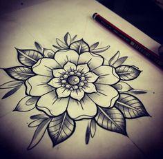 Resultado de imagen de rosa mandala tattoo