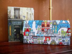 Wallet / Wristlet / Coin / Credit Card / CheckBook / Cell Phone / Bridesmaid Gifts / Paris in Colour Pencil - pinned by pin4etsy.com