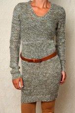 Olive Work Knit Dress