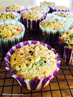 Muffin with gluten-free vegetables- Glutensiz sebzeli muffin Ninth Cloud - - Yemek Aşkım Gf Recipes, Pastry Recipes, Gluten Free Recipes, Cooking Recipes, Vegetarian Muffins, Veggie Muffins, What Is Gluten Free, Nutrition, Food Words