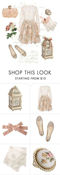 """""""Secret Garden"""" by ebbyinez ❤ liked on Polyvore featuring Pier 1 Imports, Lana Mueller, Dolce&Gabbana, Valentino, Balcony and Bed, Kimberly McDonald and Alexander McQueen"""