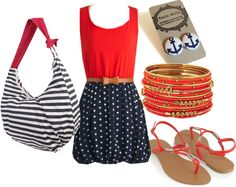 Fabulous summer outfit under $100 - Navy inspired, created by sonia-roxy-m on Polyvore