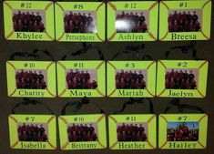 Softball Picture Frames - DIY would love to see this in baseball design too Softball Team Gifts, Softball Party, Softball Crafts, Girls Softball, Softball Stuff, Cheerleading Gifts, Basketball Gifts, Softball Decorations, Senior Softball