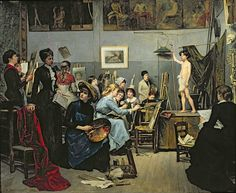 Maria Bashkirtseva, In the Studio, 1881, oil on canvas, 74 × 60.6 in, Dnipropetrovsk State Art Museum