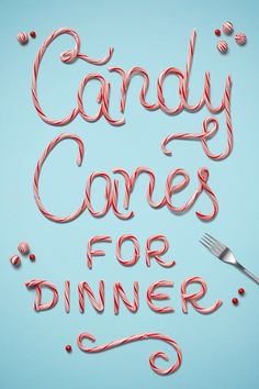 Candy Cane food typography by Danielle Evans of Marmalade Bleue + Target Food Typography, Typography Letters, Hand Lettering, Diy Inspiration, Typography Inspiration, Graphic Design Inspiration, Danielle Evans, Peppermint Candy, Jingle All The Way