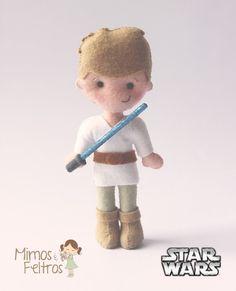 Star Wars do Lucas -  Os bonecos foram todos feitos com os moldes da apostila da A charmosa Feltros e inspirados no Trabalho e Criatividade da My Felt.