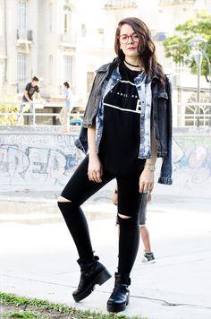 influencer argentina Punk, Black Outfits, Street Style, Instagram, Photograph, Tumblr, Clothes, Fashion, Moda Femenina
