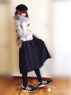 こんにちは! コメント返信前にすみません 本日のコーデです! 一昨年購入したエムズさんのニットを Winter Fits, Winter Looks, Fall Fashion Skirts, Winter Fashion, Japanese Fashion, Asian Fashion, Kawaii Fashion, My Outfit, Casual Wear