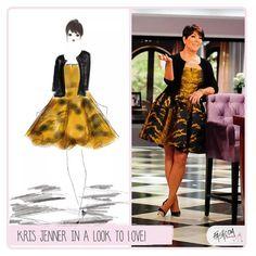 """A LOOK TO LOVE: krisjenner #fashion #fashcom #illustration #fashioncomic #comic #draw #fashionart #fashionillustration #giggle #style…"""
