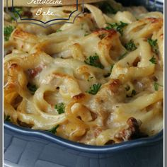Chicken Fettuccine Bake...This is the best pasta bake I have ever had and it is because it is so creamy, there is not one dry noodle in this dish!!