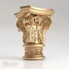 model of decorative capitals for the CNC in STL format Wooden Corbels, Wooden Crates, Column Capital, Pillar Design, House Front Design, Carving Designs, Iron Decor, Modern Exterior, Classic Furniture