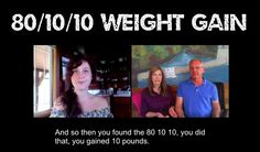 tarah from 40 below fruity talks about her weight gain and calorie intake at the beginning.