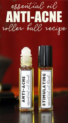 This amazing natural essential oil anti-acne roller ball recipe is perfect for spot treating acne. Formulated with black cumin seed oil in addition to an anti-acne blend of essential oils, it also targets inflammation to reduce swelling and promotes skin Homemade Essential Oils, Doterra Essential Oils, Natural Essential Oils, Essential Oil Blends, Natural Oils, Natural Acne Treatment, Natural Acne Remedies, Natural Skin Care, Acne Treatments