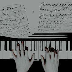 Piano black white keys music