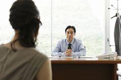 woman talking to boss