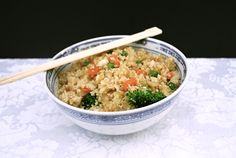 I cook with a lot of rice. Of course, everyone starts getting a tad tired of it. I had a head of cauliflower and was wondering what to do with it when I got this idea. When I used to eat a full raw diet, I used this in place of rice. I decided to …
