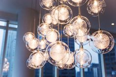 Kadur Custom Blown Glass Chandelier - Manhattan Loft Apartment - modern - Dining Room - New York - Shakúff