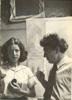Annette e Giacometti.