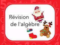 Révision des notions algébriques de base