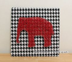 University of Alabama Elephant String Art by strungupart on Etsy, $32.00