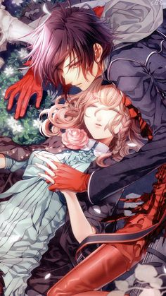 Amnesia... a great anime based off of a game...... Sad but great and love all the the male characters except for Toma I hate that guy alot