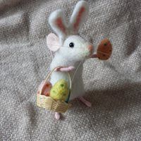 Easter bunny mouse felted bunny ears easter craft decoration ideas felt eggs miniature rabbit spring gift pet inspirational pretty idea basket