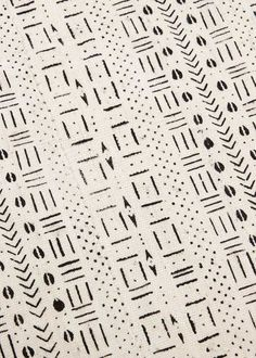Handmade mudcloth from Mali. All cotton is grown, spun, and woven by local artisans.