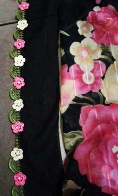 125 Grain Crochet Embroidered Writing Edges All in One Schöne Mid Pearl Pearl Patter Blume Häkelspitze - Yemeni oyası - Crochet Lace Edging, Crochet Borders, Crochet Flowers, Crochet Home, Knit Crochet, Knitting Patterns, Crochet Patterns, Moda Emo, Lace Wrap