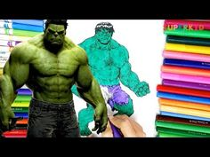Avengers Hulk coloring pages - Learning colors for Kids and Preschoolers - YouTube