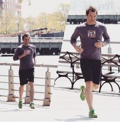 Calling Dr. Flynn. The expensive charlatan out running. #HughDancy keeping in shape #FiftyShades #drflynn