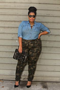 Here's a fabulous yet simple way to style camo pants...