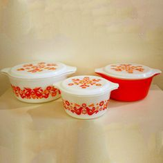 Pyrex Covered Dish Trio, $132, now featured on Fab.