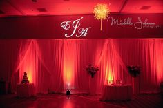 One of my weddings, Alfredo & Elizabeth's red reception up lighting